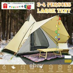 Grande Tente De Camping De 4 Personnes Waterproof Family Indian Style Pyramid Tipi
