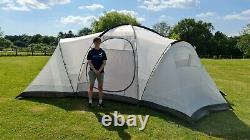Grande Tente De Camping Familiale De 8 Personnes Avec Quatre Gousses De Couchage Séparées