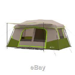 Grande Tente De Camping Pour 11 Personnes Instantanée Pop Up Cabine Extérieure Famille D'abri De 3 Chambres