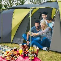 Grande Tente De Camping Pour 9 Personnes, 4 Chambres, Auvent Étanche, Festival De Familles, Randonnée