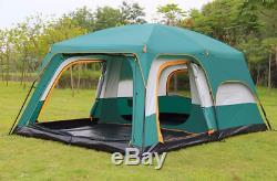 Grande Tente De Camping Pour Abri 8 Personnes Double Couche En Plein Air Des Familles