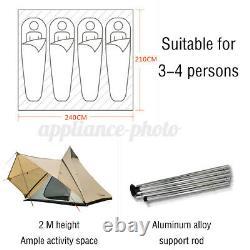 Grande Tente De Famille Imperméable Légère Style Indien Pyramid Tipi Tents Couverture
