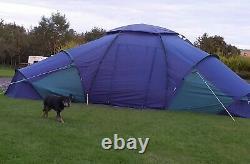 Grande Tente De Luxe Khyam Rigi-dome 6 -8 Couchettes Camping Dome Tente Familiale