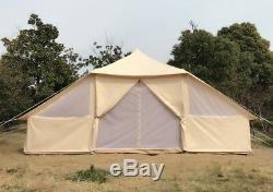 Grande Tente De Toile De Bell Avec La Tente Imperméable D'hôtel De Camping Familial De Plancher De Tirette