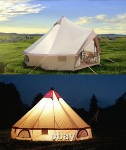 Grande Tente De Yourte Mongole Tente Bell Extérieur Imperméabilisant Glamping Camping 4m