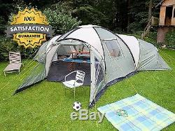 Grande Tente Dôme De Camping Familiale Grande Et Spacieuse Pour 10 Personnes, Imperméable Et Facile À Monter