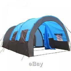Grande Tente Double Couche Extérieure Camping Tunnel 8 Personnes Family Party Tente Nouveau