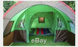 Grande Tente En Plein Air Tunnel Double Couche Camping 8 Personnes Family Party Tent Nouveau