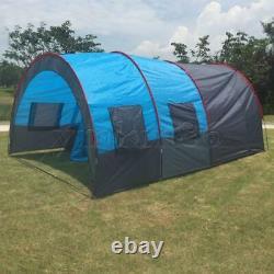 Grande Tente Extérieure À Double Couche Tunnel Camping Family Travel Tent 8-10 Personne