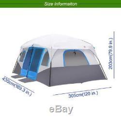 Grande Tente Extérieure De Camping Familial Pour Tente De Cabine Étanche Pour 8 10 À 12 Personnes