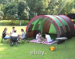 Grande Tente Extérieure Double Couche Tunnel Camping 8 Personnes Family Party Tente Nouvelle