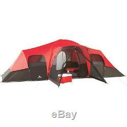 Grande Tente Familiale Camping Extérieur Ozark Trail 3 Chambre 10 Personnes Étanche Nouveau