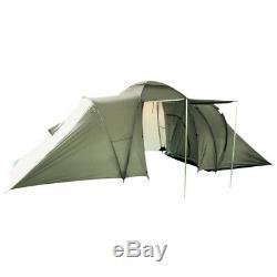 Grande Tente Pour 3 + 3 Hommes Camping Festival De Randonnée Voyage Bushcraft Shelter Olive