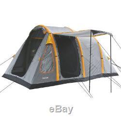Highlander Aeolus Tente De Camping Tunnel Gonflable Pour Grande Famille, Gris Foncé