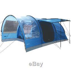 Highlander Oak 6 Personnes, Grande Famille, Camping, Tente De Festival, Tunnel