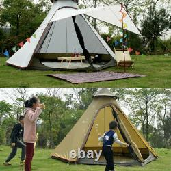 Imperméable 2-layer Yurt Family Indian Style Teepee Camping Tent Outdoor Travel