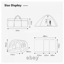 Imperméable 8-10 Personne Grande Famille Tente Tunnel Bleu Randonnée Extérieure Camping Tente
