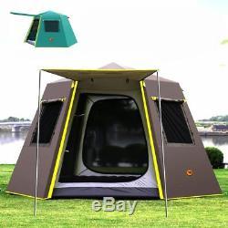 Imperméable À L'eau Ultra Grande Tente Famille En Plein Air Canopy Tarp Diagonal Camping Abri