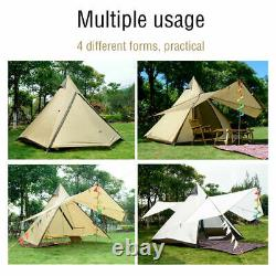 Imperméable Style Indien Grand Pyramide Teepee Tipi Tent Camping Familial 4 Personnes