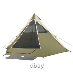 Indian 8 Person Teepee Tente Wigwam Grande Maison Extérieure Tipi Pliable Dormir