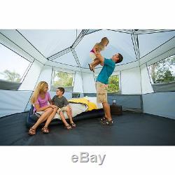 Instantané De La Cabine À Six Pans Tente De Grandes Fenêtres Ventilation Huit Campers Confortable