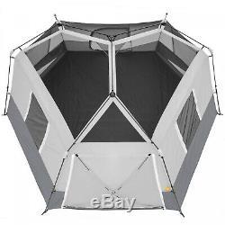 Instantané De La Cabine Tente 11 Personne Hexagone Camping Extérieur Famille 17' X 15' Grand Nouveau