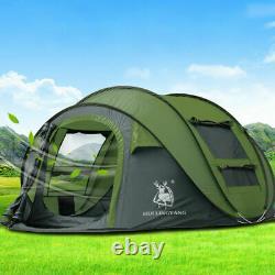 Instantané Pop Up Tente 3-4 Personnes Tente Familiale Camping Randonnée Respirant Extérieure
