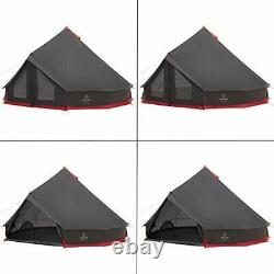 Justcamp Bell 10, Grande Tente Tipi Pour Groupes, Famille, Tente Pyramidale, 10 Personnes