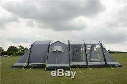 Kampa Bergen Air Pro 6 Tente Famille (avec Tapis Supplémentaire Et Une Chambre Intérieure)
