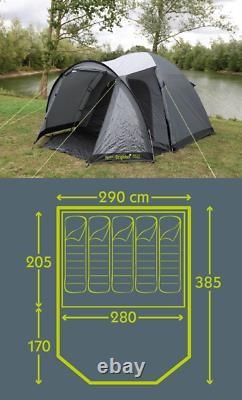 Kampa Camping Festival Brighton 5 Personnes Berth Homme Tente Grise 2021 Ct3325