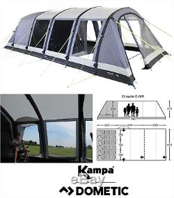 Kampa Croyde 6 Air Pro 6 Personne Homme Couchette Famille Tente Gonflable 2020 Ct3336