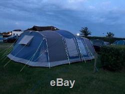 Khyam Québec 8 Grande Tente Familiale DLX 10 Places / 10 Hommes Avec Tapis Et Empreinte
