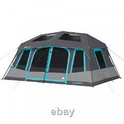 Large 10-person Instant Cabine Tente Tente Dark Repose Blackout Windows Camping De Plein Air