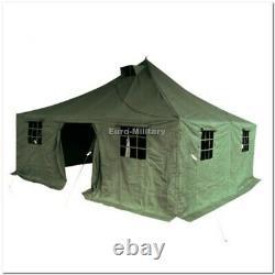 Large 11 Hommes Base Militaire Camp Militaire Tent 5x5m 100% Polycanvas Usine Nouveau
