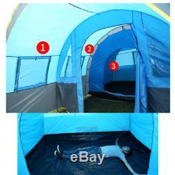 Les Personnes Portatives 5 À 8 Personnes Utilisent La Grande Partie D'alpinisme Imperméable De Famille De Tente De Tunnel