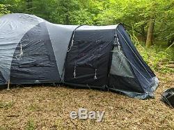 Lighty Utilisé Vango Diablo 900 Canvas 9 Man Grande Tente De Camping Familial