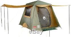 New Coleman Instantané Jusqu'à 4 Personne Extérieure Camping Randonnée Complet D'or Fly Tente Famille