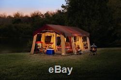 Nouveau Camping Brun Instant Family Cabin 2 Room Large Tent 10 Personnes Scellée 20x10