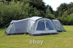 Nouveau Outdoor Revolution Camp Star 1200 Air 12 Berth Grand Ensemble De Tente Gonflable