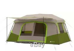 Nouveau Ozark Trail 11-personne Cabine Instantanée Avec Salle Privée Famille Camping Double Toit