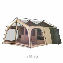 Nouveau Ozark Trail Camping Tent Cabine 14 Personnes 2 Chambres Extérieur Grand Lodge Familial