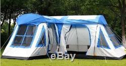 Nouvelle Deluxe Cabin Famille Camping En Plein Air Étanche Grand Espace Tente D'hiver