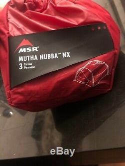 Nouvelle Msr Mutha Hubba Nx Tente 3 Personne Camping Canopy Abri Extérieur