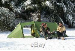 Opalus 3-4 Personnes Grand Espace 4 Saison 2 Pièces Camping Tunnel Tente Double Couche