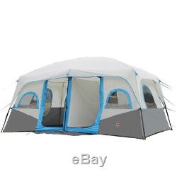 Outdoor 8-12persons Camping Grande Famille Tente De Randonnée 2 Chambres Double Couche Oxford