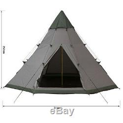 Outsunny 6-7 Personne Grande Fête De Famille Tente De Camping Avec Sac De Transport, Fenêtre Mesh
