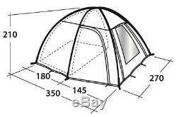 Outwell Arizona 300 Grand Dome Tente 3 Personne Dortoir Séparé