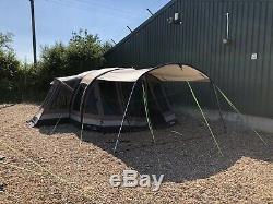Outwell Montana 6 Satc Coton Poly Grande Famille Air Tente Avec Auvent Et Extras