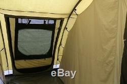 Outwell Norfolk Lac 6-8 Berth Grande Famille Polycoton Tente Avec Les Polonais En Alliage