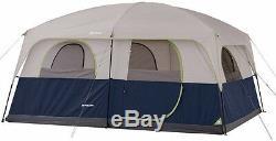 Ozark Trail 10 Personne Tente De Camping Bleu Instantané Extérieur Famille Cabin Shelter Nouveau